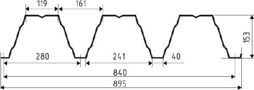 Профнастил Н153-cherch