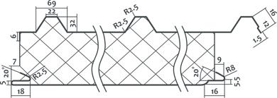 Схема - Пенополистирольные плиты для кровельных сэндвич-панелей для крыши